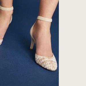 Anthropologie Tweed Heels